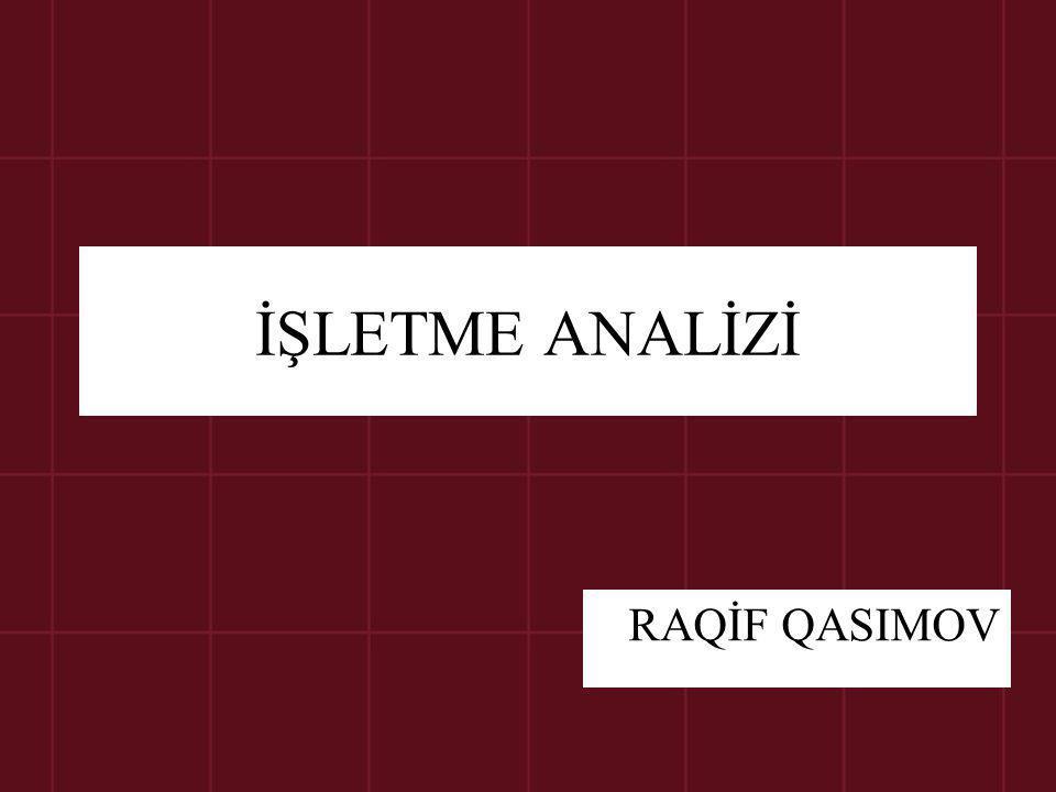 İŞLETME ANALİZİ RAQİF QASIMOV