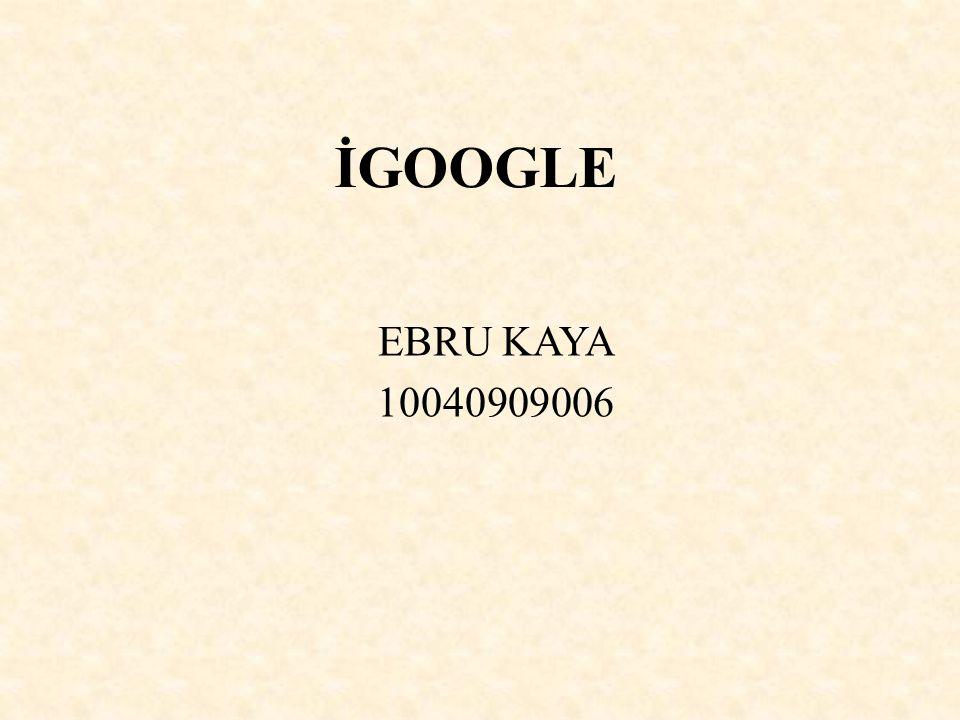 İGOOGLE EBRU KAYA 10040909006