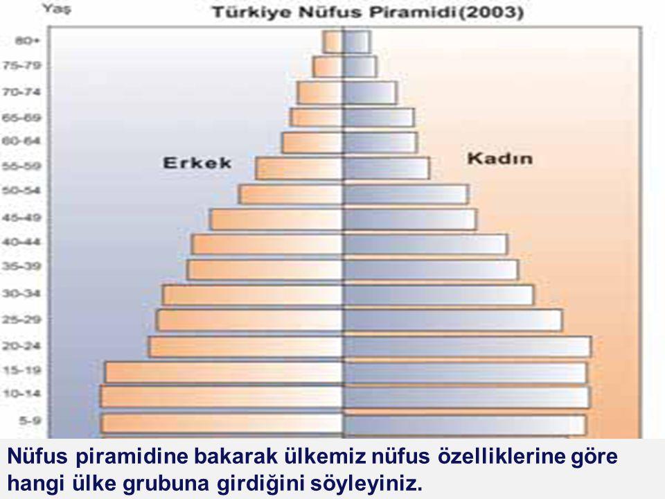 LOGO Piramidin geniş tabanlı bir üçgene benzemesinin nedenleri nelerdir? Hangi yaş grubu daha fazladır? Genç nüfus (15-35) miktarı yaklaşık ne kadardı
