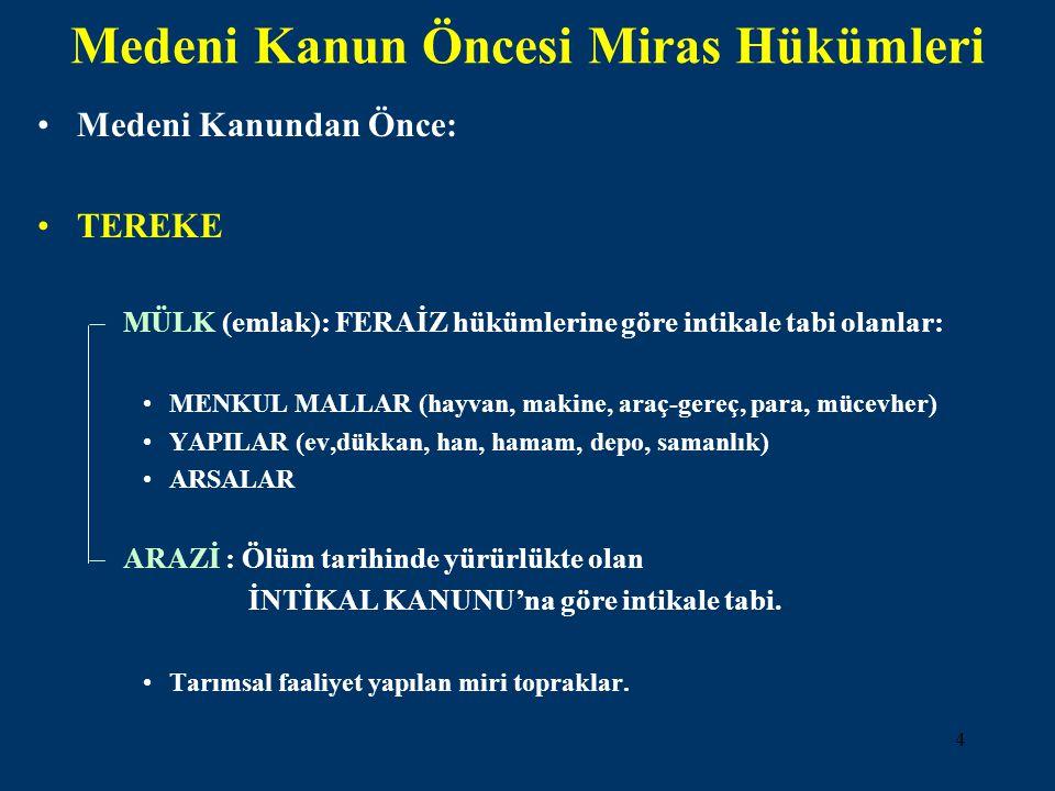 5 Feraiz ve İntikal İle İlgili Kaynaklar Mecelle-i Ahkam-ı Adliye Himmet BERKİ, Hikmet Yayınevi, 1978.