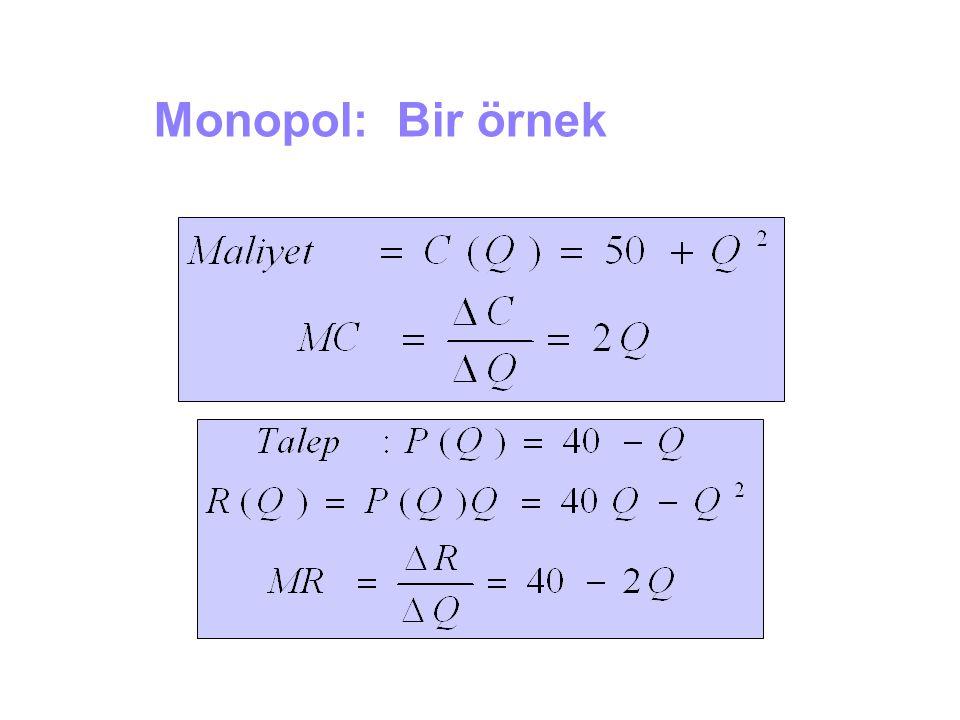 Monopol: Bir örnek