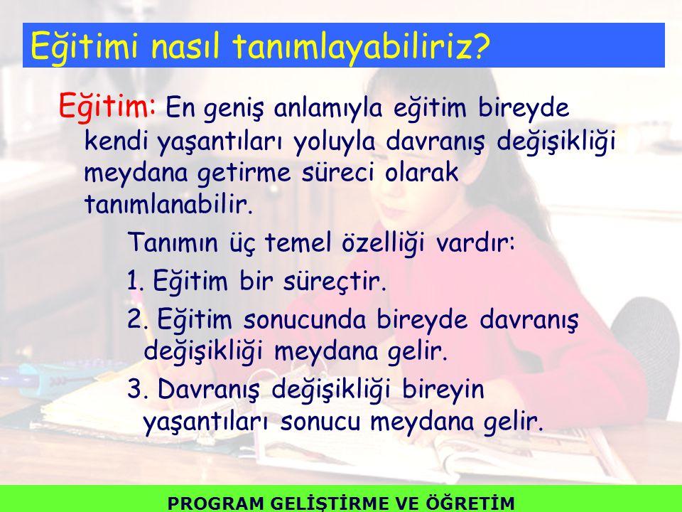▪ Türkiye'de program geliştirme çalışmaları 1924 yılında çıkarılan Tevhid-i Tedrisat Kanunu ile başlamıştır.