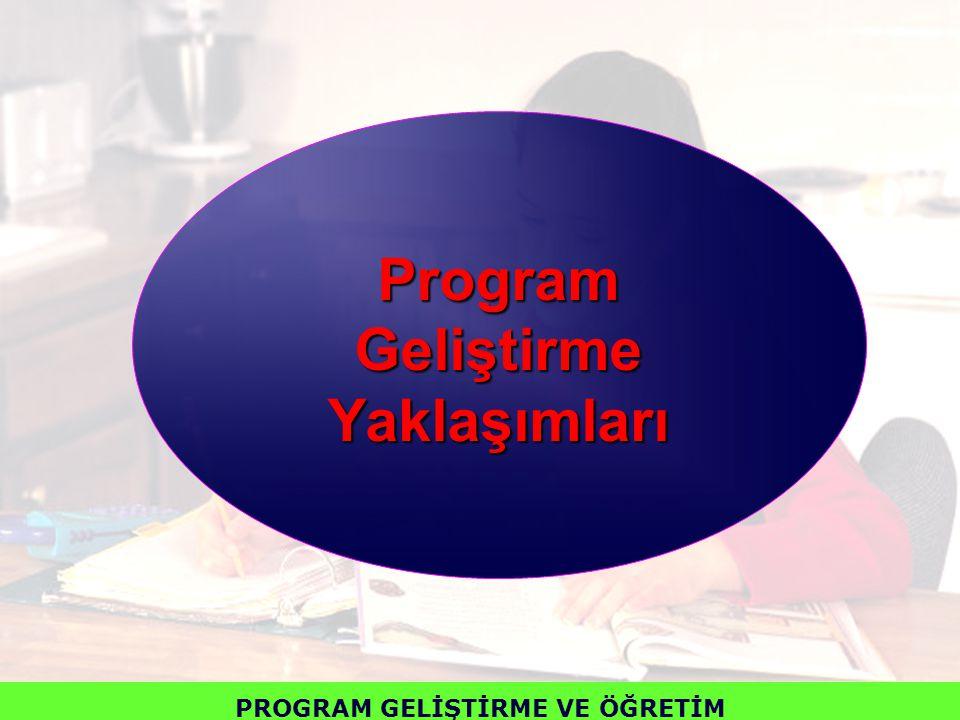 Program Geliştirme Yaklaşımları PROGRAM GELİŞTİRME VE ÖĞRETİM