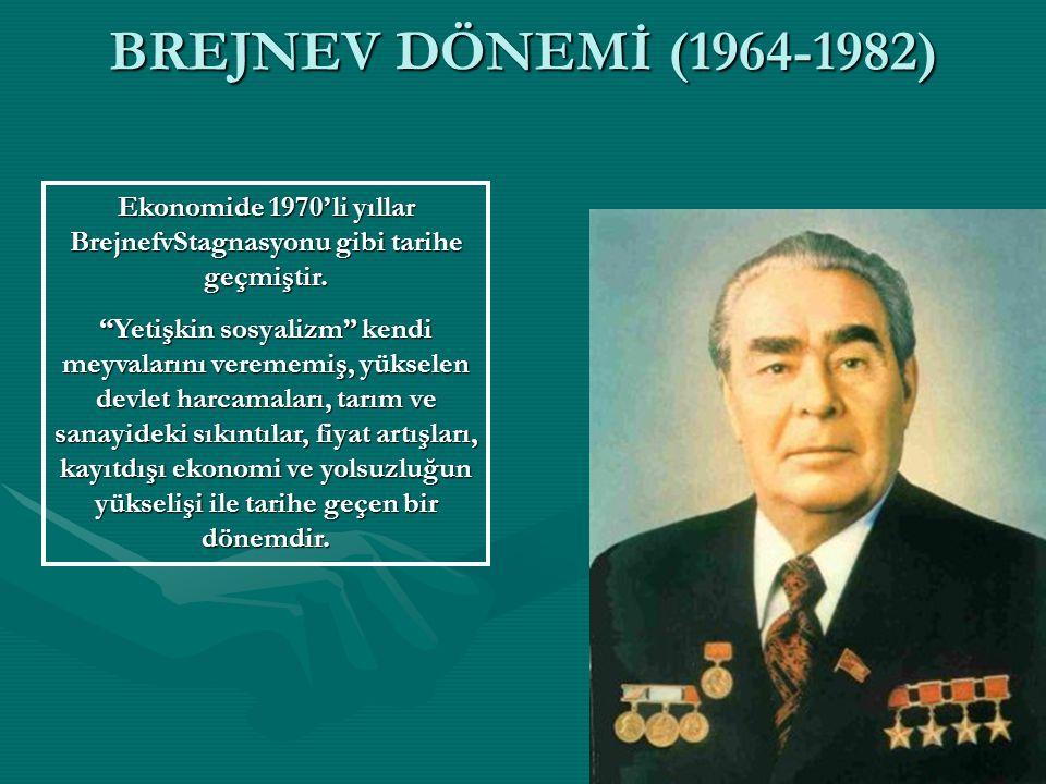 9 KRUŞÇEV DÖNEMİ (1953-1964) 1953 Stalin ölümünden sonra iktidara Kruşçef geçmiştir.