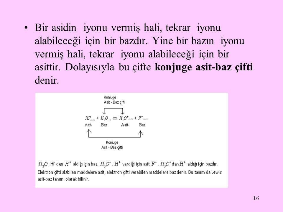 Asit Baz Tepkimeleri Ca(OH) 2 + H 2 SO 4 → CASO 4 + 2H 2 O Metal oksitler de (Bazik oksitlerle) birleşerek tuzları yaparlar.
