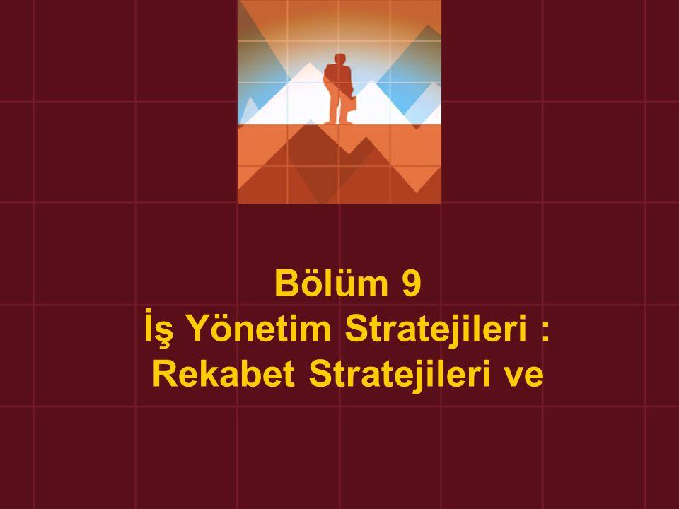 Bölüm 9 İş Yönetim Stratejileri : Rekabet Stratejileri ve