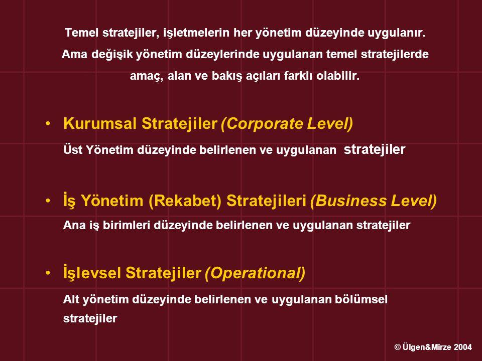 Odaklanmış Stratejiler İki ana rekabet stratejisinin farklı pazar platformunda (belirli ve dar bir yelpazede) uygulanması İşletmeler pazar platformunu aşağıdaki şekilde daraltabilirler : Pazarı coğrafi / bölgesel olarak bölümlendirebilirler, Farklı ve değişik müşteri istek ve beklentilerine göre pazar daraltılabilir, Farklı ve değişik özelliklere sahip mal ve hizmet üretimi ile yeni bir pazar yaratılabilir Odaklanmış Maliyet Liderliği Stratejisi : İşletmeler belirli müşteri grubuna odaklanmış olarak, maliyet liderliği stratejisi uygulayabilirler.