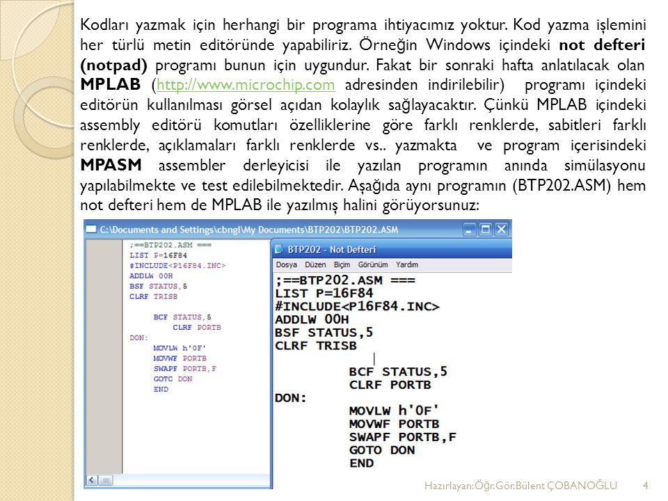 Kodları yazmak için herhangi bir programa ihtiyacımız yoktur.