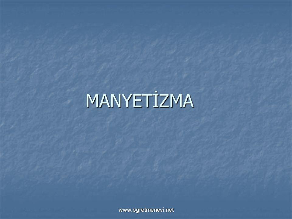 www.ogretmenevi.net 3.Etki ile Mıknatıslanma 3.