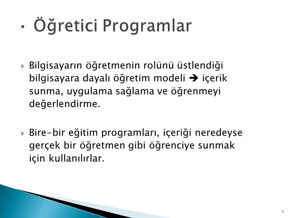  Bu tür BDE uygulamaları, öğrencilerin düşünme ve problem çözme yeteneklerini geliştirmeye yönelik ve herhangi bir BDE uygulaması altında olmayan program türleridir.
