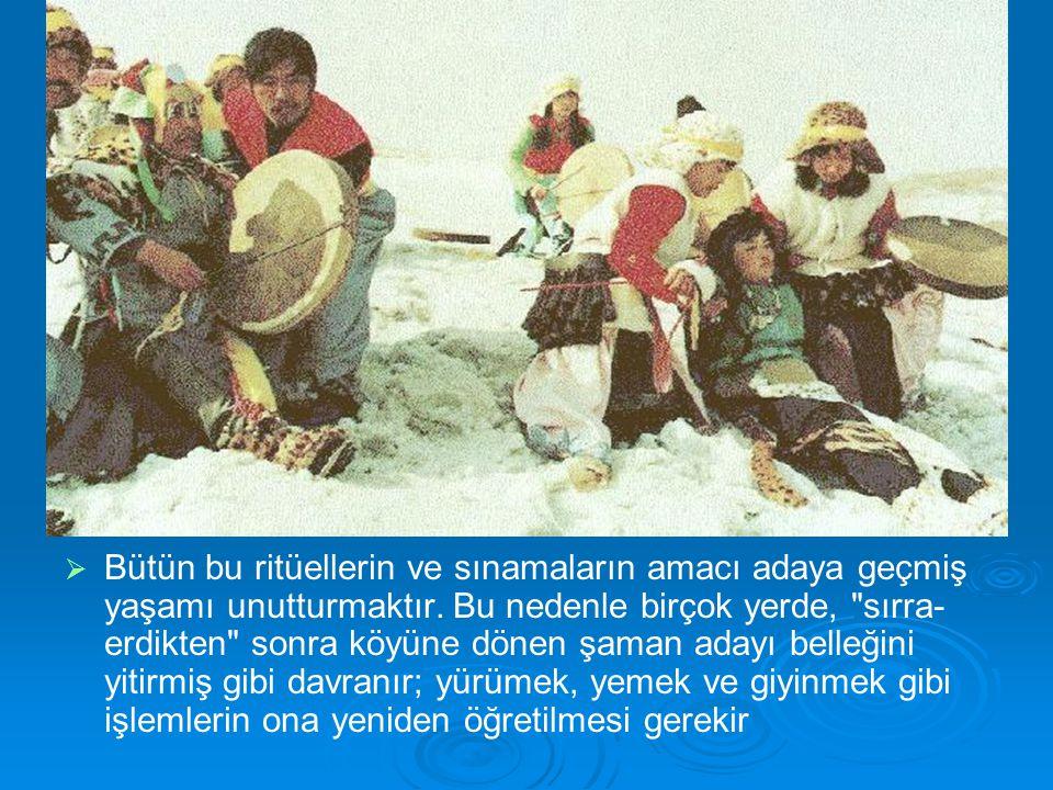   Bütün bu ritüellerin ve sınamaların amacı adaya geçmiş yaşamı unutturmaktır. Bu nedenle birçok yerde,