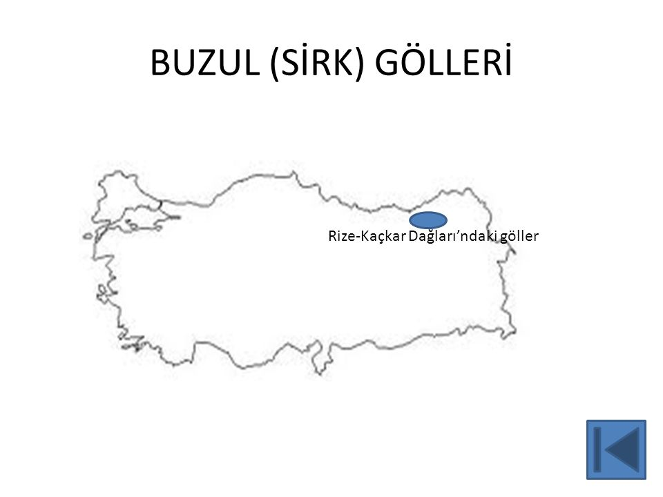 BUZUL (SİRK) GÖLLERİ 23 Rize-Kaçkar Dağları'ndaki göller