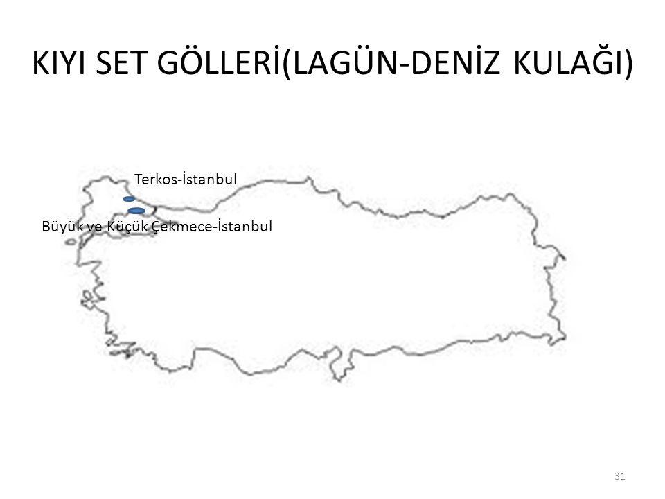 KIYI SET GÖLLERİ(LAGÜN-DENİZ KULAĞI) 31 Büyük ve Küçük Çekmece-İstanbul Terkos-İstanbul