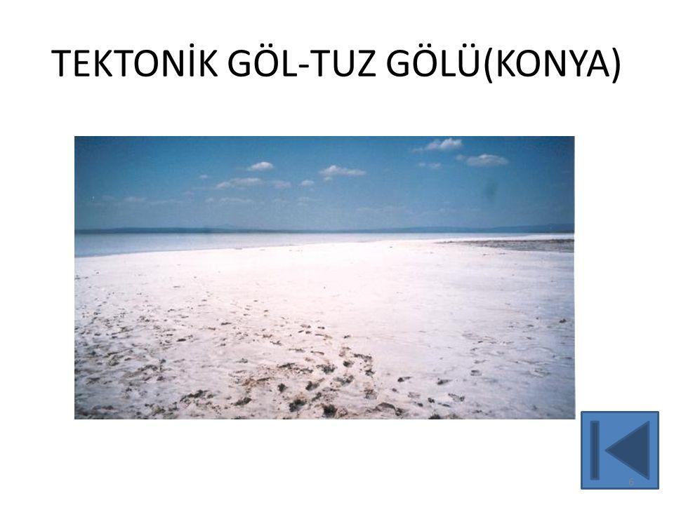 TEKTONİK VE TEKTONİK KÖKENLİ(KARMA) GÖLLERİMİZ 7 2 1 4 3 5 8 7 6 9 10 11 12 13 14 1-VAN: Tektonik- Volkanik set gölü;karma yapılı.