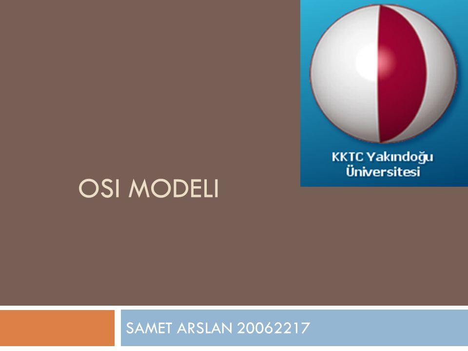 OSI MODELI SAMET ARSLAN 20062217