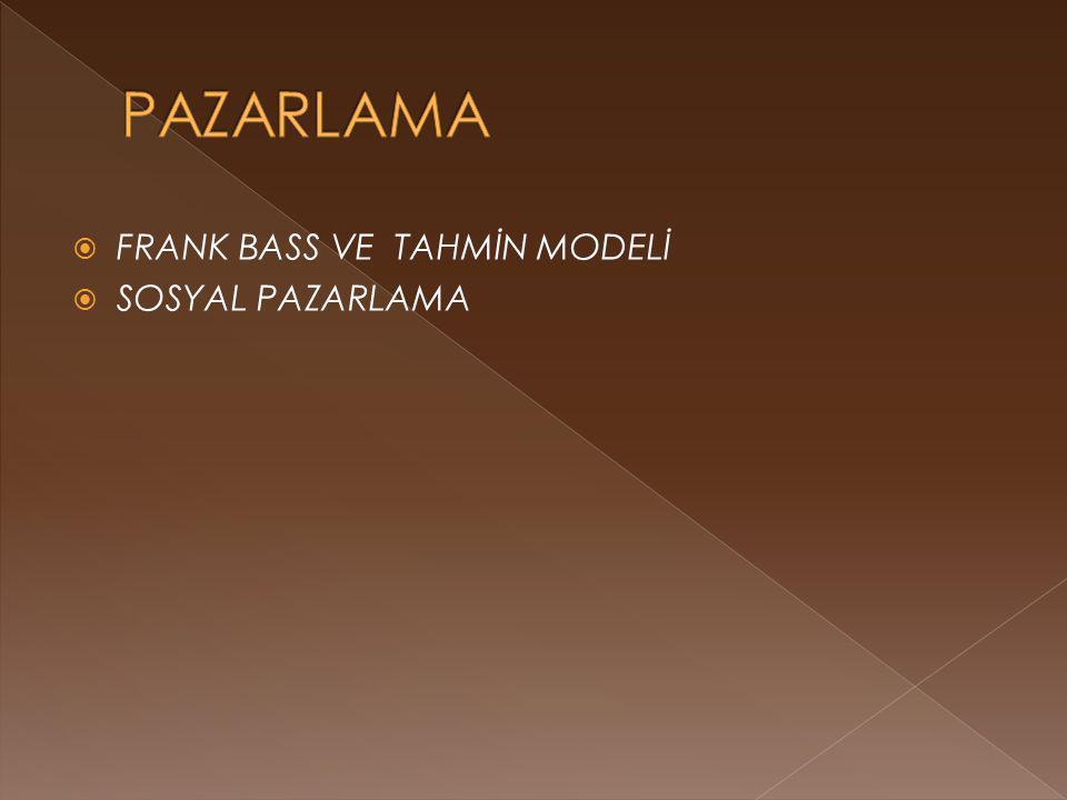  FRANK BASS VE TAHMİN MODELİ  SOSYAL PAZARLAMA