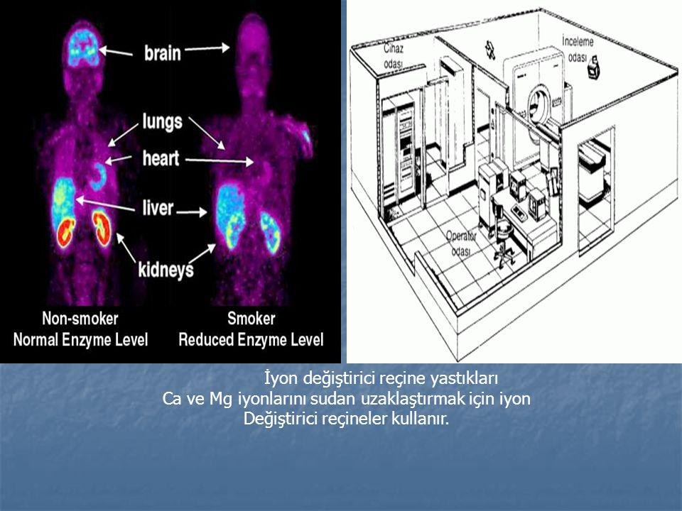 İyon değiştirici reçine yastıkları Ca ve Mg iyonlarını sudan uzaklaştırmak için iyon Değiştirici reçineler kullanır.