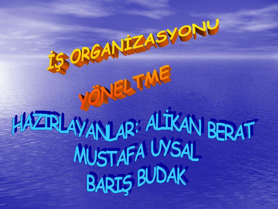 ''''{{ YÖNELTME}}'''' ''''{{ YÖNELTME}}'''' Yönetimde planlama ve örgütlemeden sonra kurulan sistemin işlemesine sıra gelmektedir.