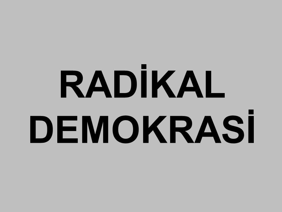 RADİKAL DEMOKRASİ