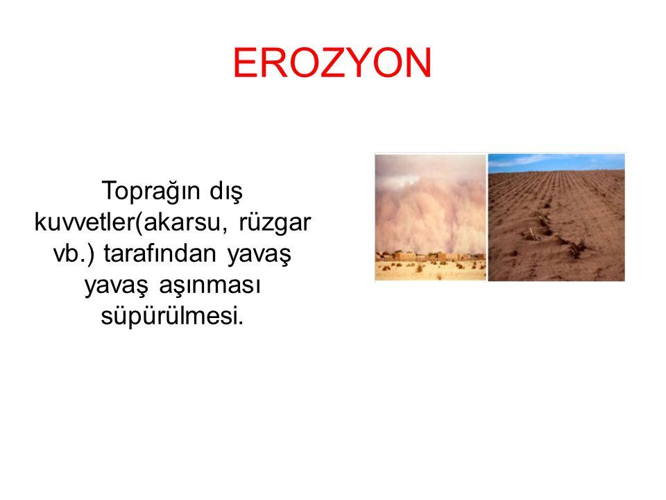 EROZYONUN NEDENLERİ