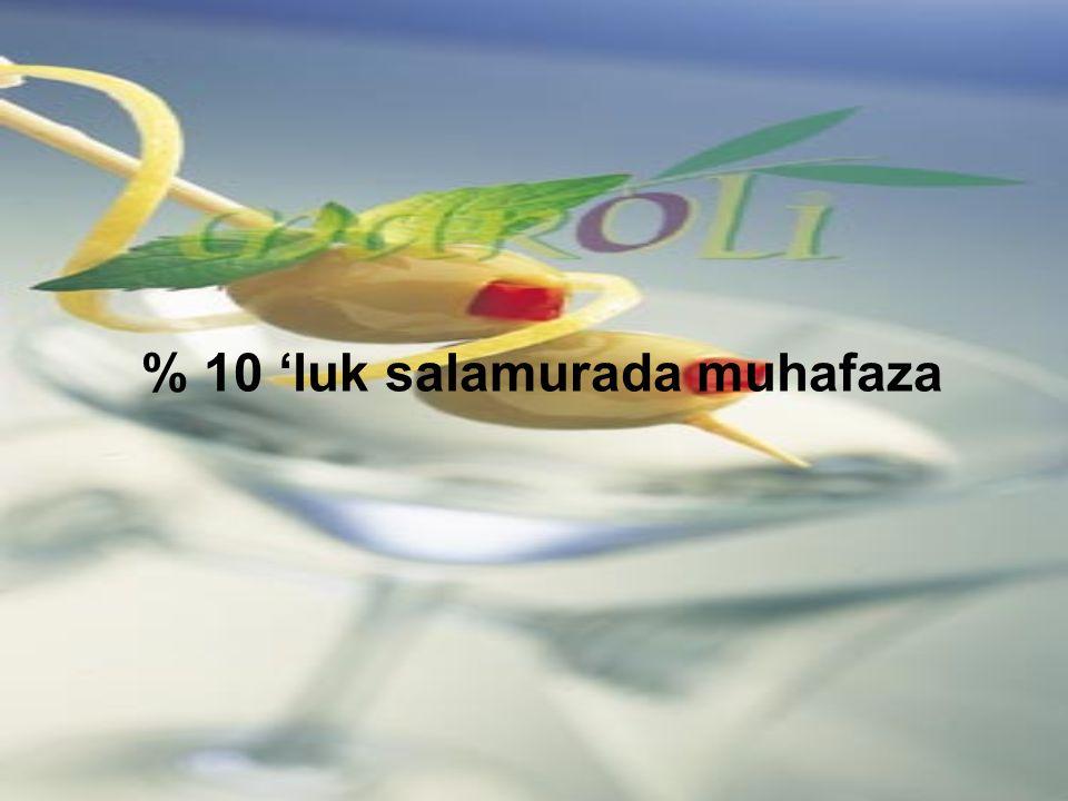 % 10 'luk salamurada muhafaza
