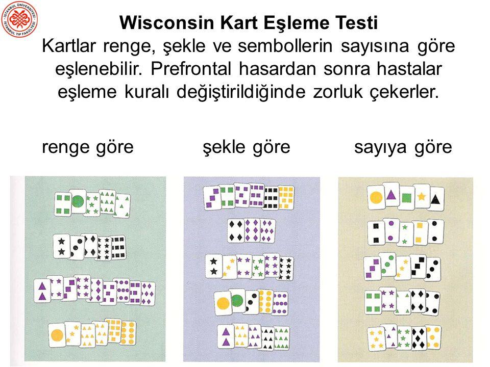 Wisconsin Kart Eşleme Testi (WCST) Yanlış