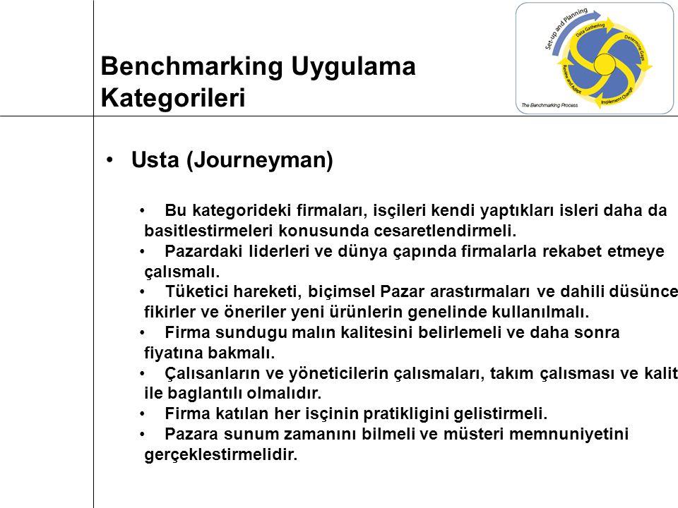 Usta (Journeyman) Bu kategorideki firmaları, isçileri kendi yaptıkları isleri daha da basitlestirmeleri konusunda cesaretlendirmeli.