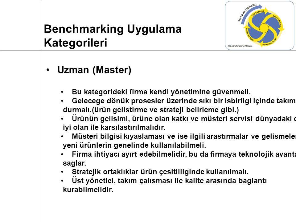 Uzman (Master) Bu kategorideki firma kendi yönetimine güvenmeli.