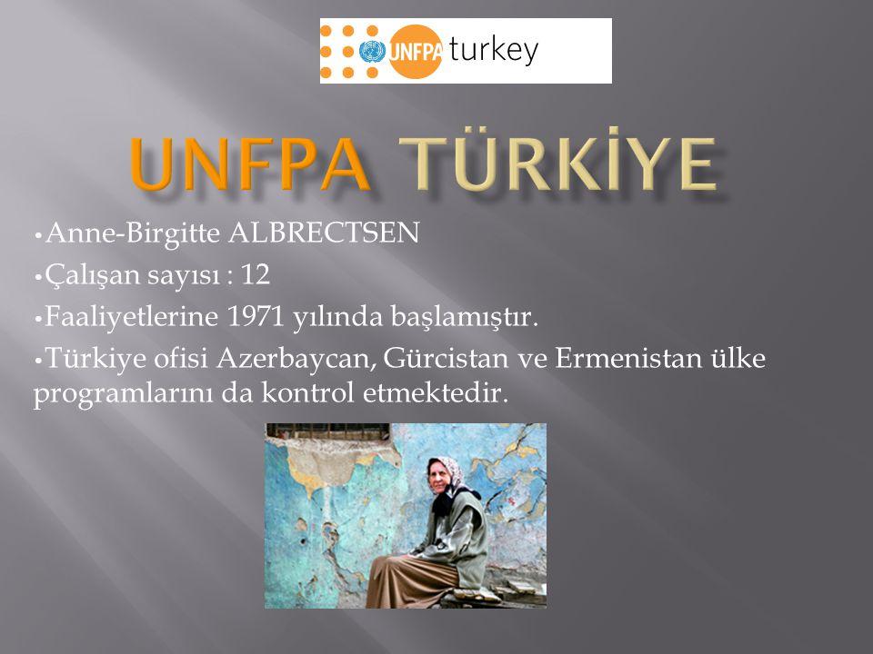 Anne-Birgitte ALBRECTSEN Çalışan sayısı : 12 Faaliyetlerine 1971 yılında başlamıştır. Türkiye ofisi Azerbaycan, Gürcistan ve Ermenistan ülke programla