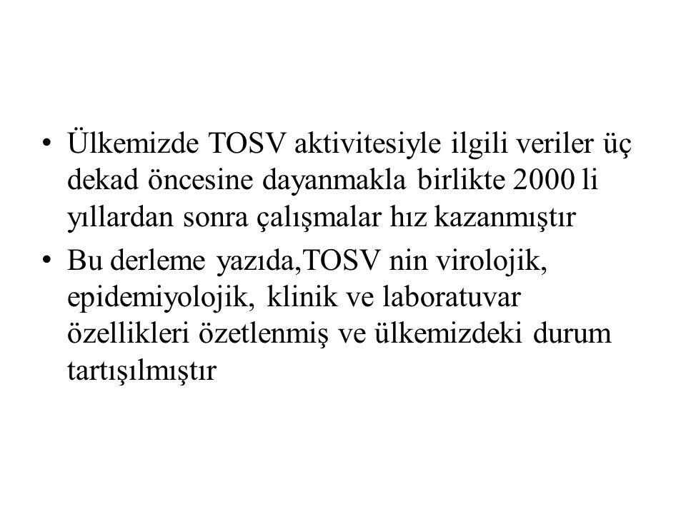 2007 ve 2008 yıllarında, Adana'nın Kozan, İzmir'in Ödemiş ve Ankara'nın Mamak ilçelerinde ortaya çıkan tatarcık humması salgınlarına ait analizler, RSHMB Viroloji Laboratuvarı ve Almanya Göttingen Üniversitesi Viroloji Kürsüsü iş birliğiyle yapılmış; Serolojik,moleküler ve hücre kültürü yöntemleri ile etkenin SFV olduğu gösterilmiştir