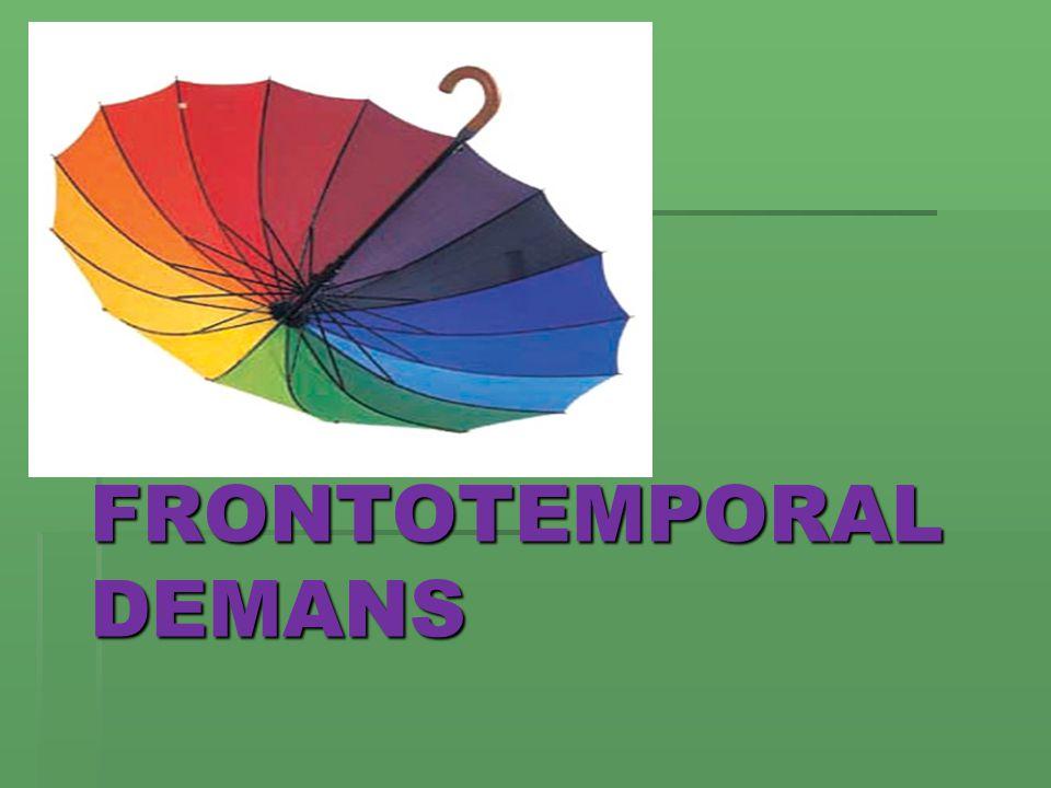 FRONTOTEMPORAL DEMANS