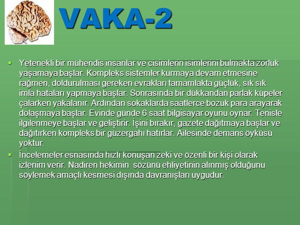 VAKA-2  Yetenekli bir mühendis insanlar ve cisimlerin isimlerini bulmakta zorluk yaşamaya başlar.
