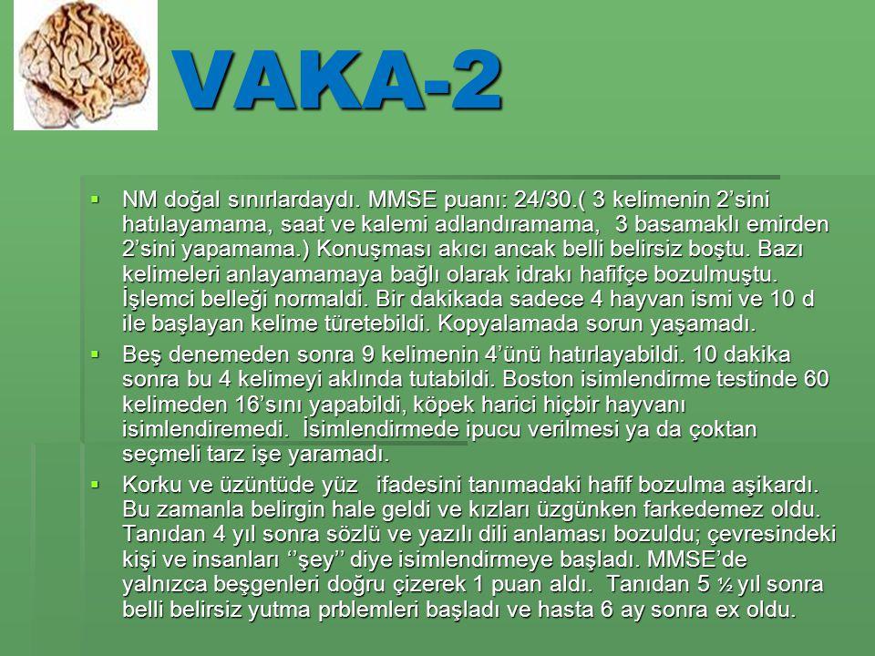 VAKA-2  NM doğal sınırlardaydı.