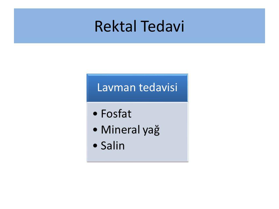 Rektal Tedavi Lavman tedavisi Fosfat Mineral yağ Salin