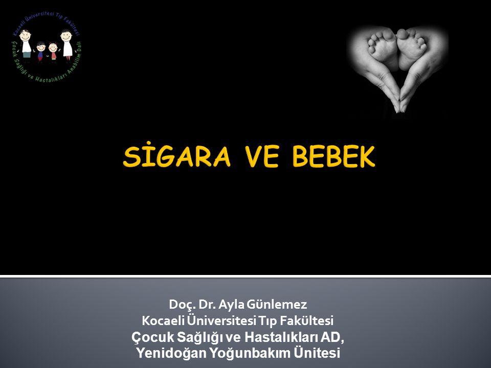 Doç. Dr. Ayla Günlemez Kocaeli Üniversitesi Tıp Fakültesi Çocuk Sağlığı ve Hastalıkları AD, Yenidoğan Yoğunbakım Ünitesi