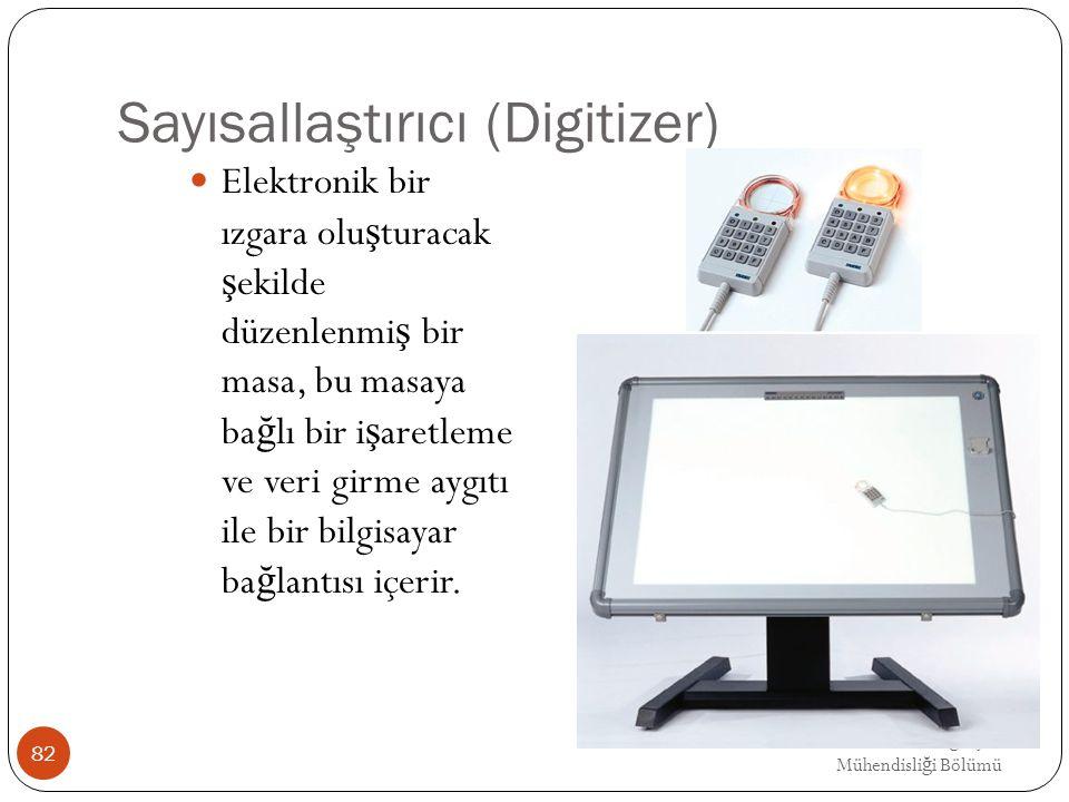 EMRE UNSAL DEU Bilgisayar Mühendisli ğ i Bölümü Sayısallaştırıcı (Digitizer) Elektronik bir ızgara olu ş turacak ş ekilde düzenlenmi ş bir masa, bu ma