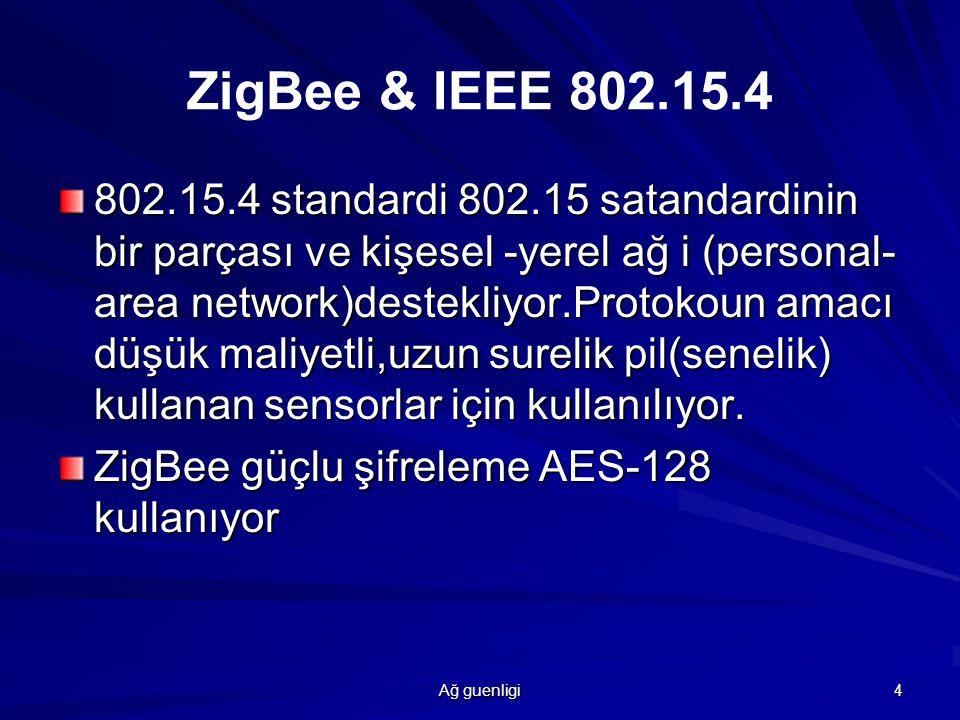 Ağ guenligi 5 zigbee Alliance güvenilir,düşük maliyetli,düşük güçkulanılan,telsiz ağ iletişimi için izleme ve kontrol ürünleri üzerinde çalışan şirketlerden oluşan bir kurum.