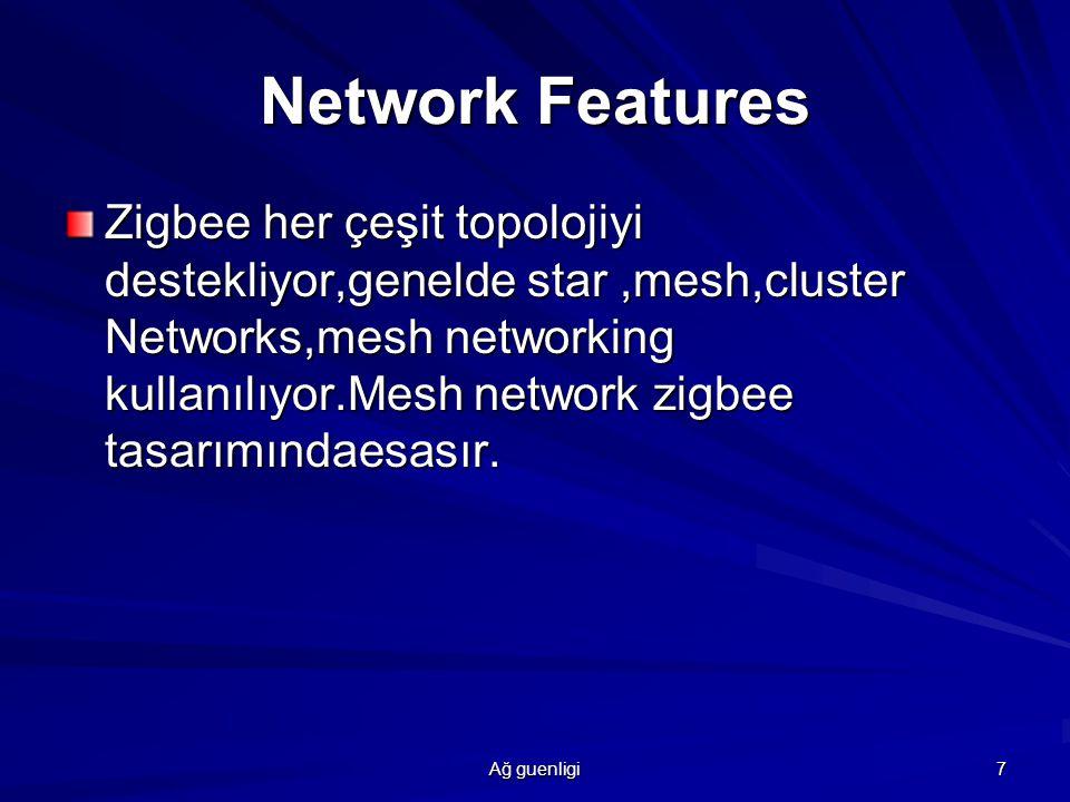 Ağ guenligi 8 Zigbee Cıhazları Network Coordinator Full Function Device Reduced Function Device