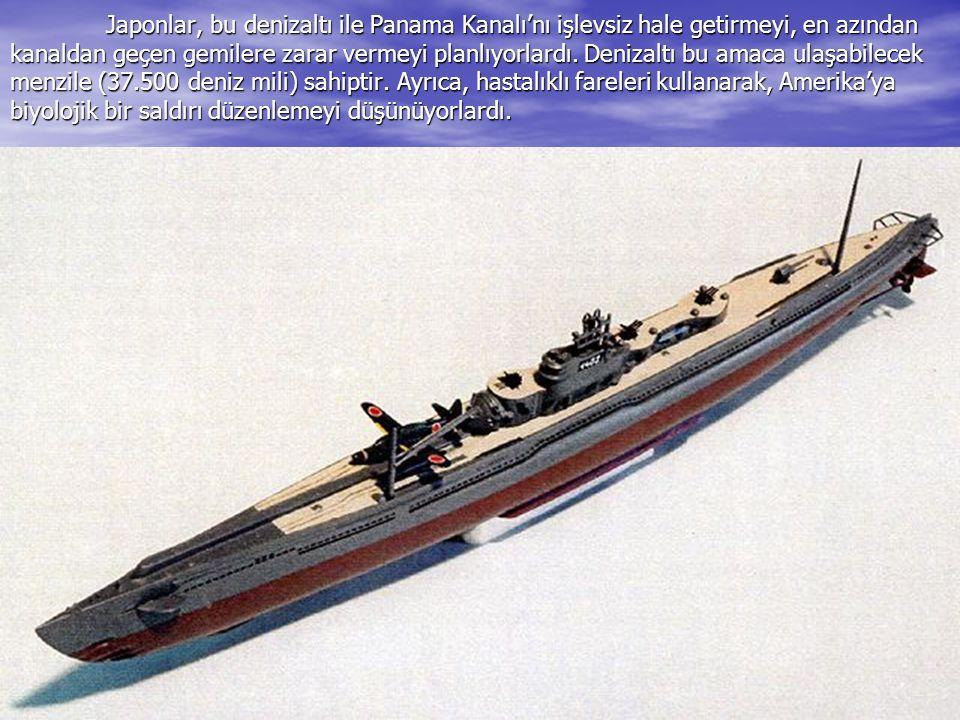 Japonlar, bu denizaltı ile Panama Kanalı'nı işlevsiz hale getirmeyi, en azından kanaldan geçen gemilere zarar vermeyi planlıyorlardı. Denizaltı bu ama