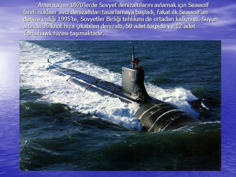 Amerika'nın 1970'lerde Sovyet denizaltılarını avlamak için Seawolf Sınıfı nükleer avcı denizaltıları tasarlamaya başladı, fakat ilk Seawolf'un denize