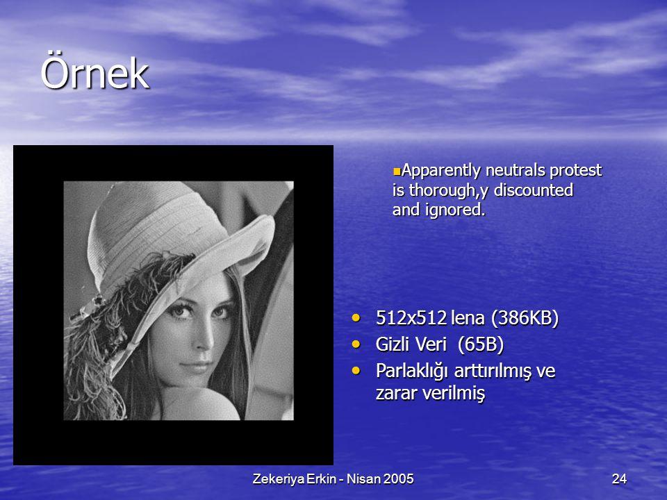 Zekeriya Erkin - Nisan 200524 Örnek Apparently neutrals protest is thorough,y discounted and ignored.