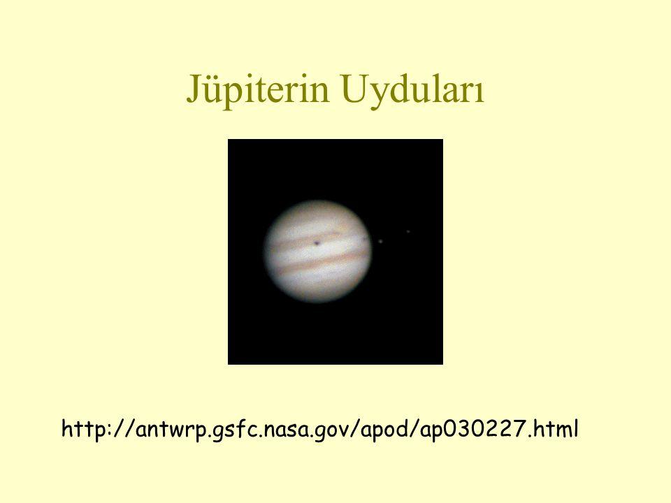 Jüpiterin Uyduları http://antwrp.gsfc.nasa.gov/apod/ap030227.html