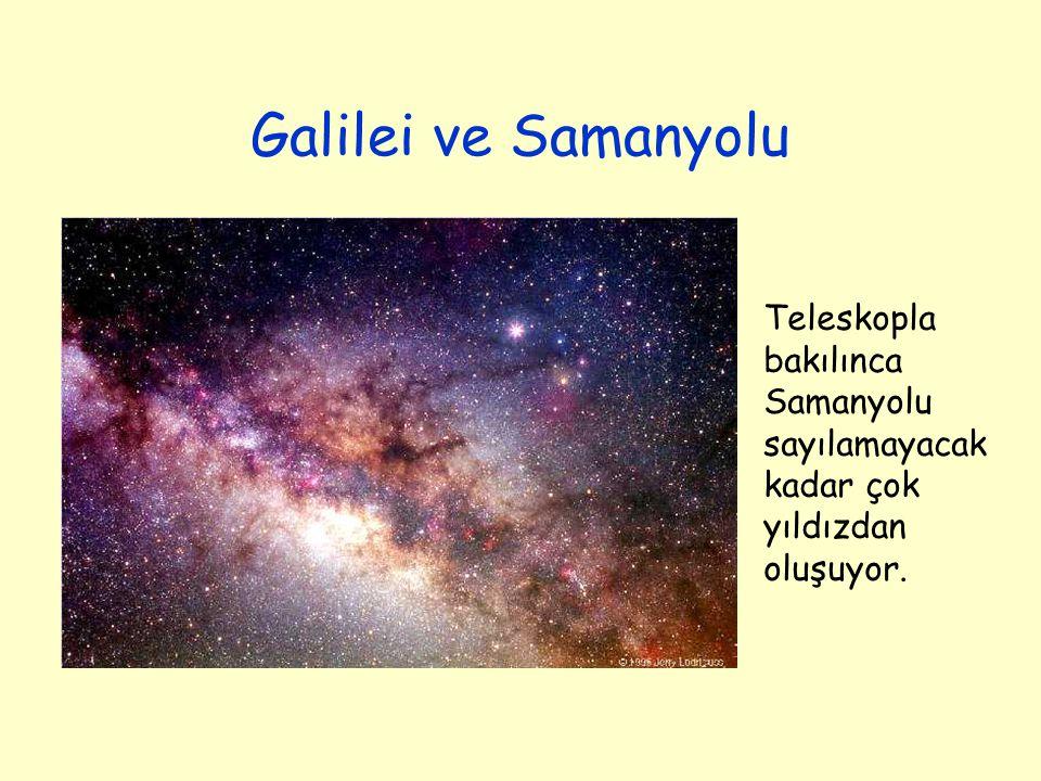 Galilei ve Samanyolu Teleskopla bakılınca Samanyolu sayılamayacak kadar çok yıldızdan oluşuyor.