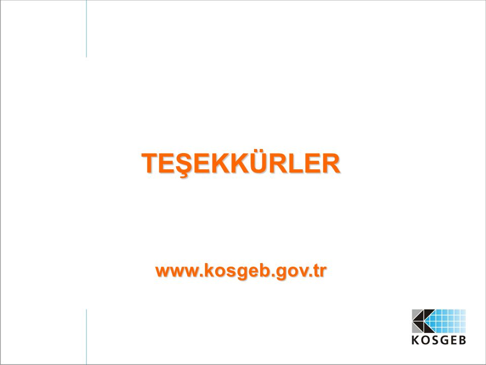 TEŞEKKÜRLERwww.kosgeb.gov.tr