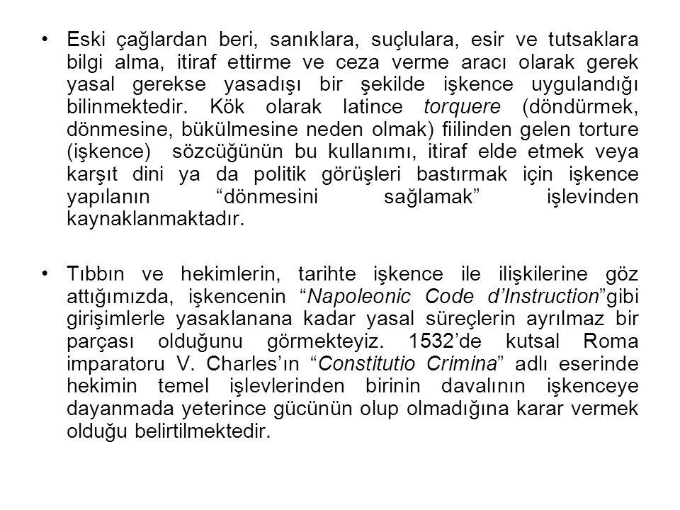GEREÇ VE YÖNTEM Bu çalışma İnsan Hakları Vakfı İstanbul Şubesi'ne 1997 Haziran -1999 Haziran ayı içinde müracaat eden 436 olgu ile 2002 yılı içinde müracaat etmiş olan toplam 317 olgunun dosyaları taranarak gerçekleştirildi.