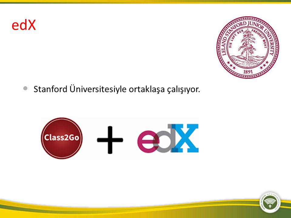 edX Stanford Üniversitesiyle ortaklaşa çalışıyor.