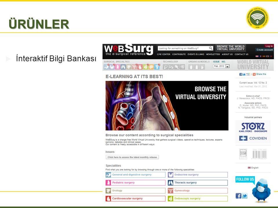  İnteraktif Bilgi Bankası ÜRÜNLER