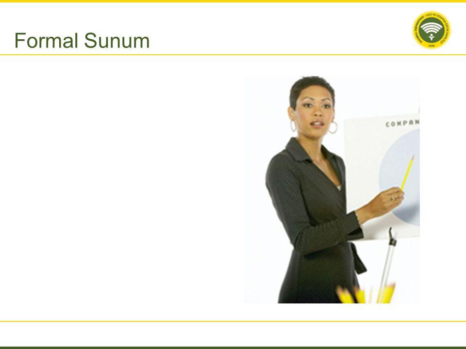 Formal Sunum