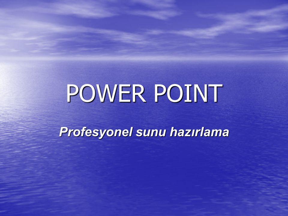 POWER POINT Profesyonel sunu hazırlama