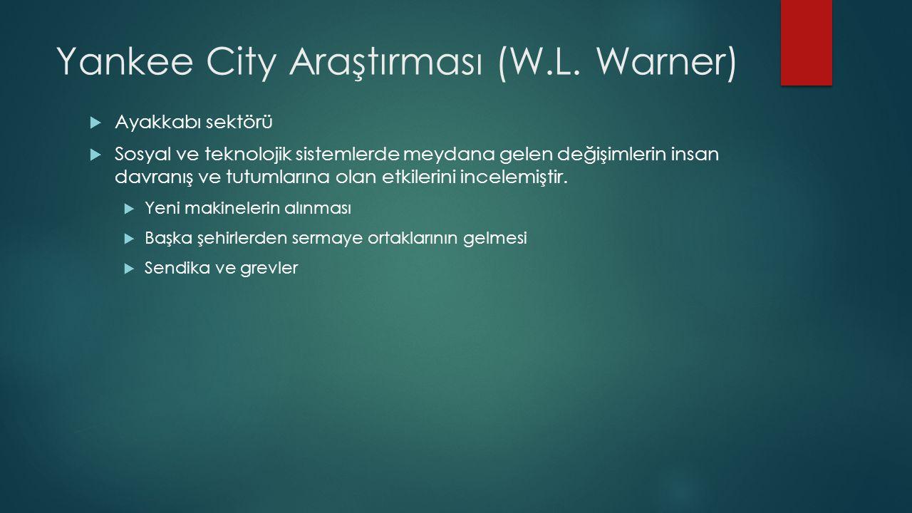 Yankee City Araştırması (W.L.